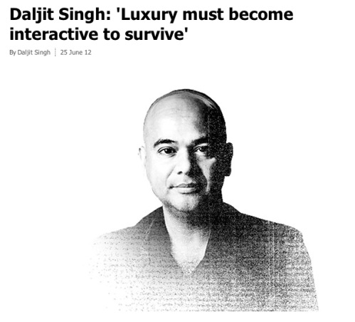 Daljit on luxury