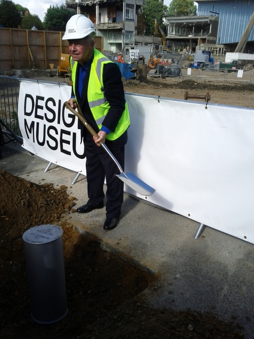 Terence burying the time capsule